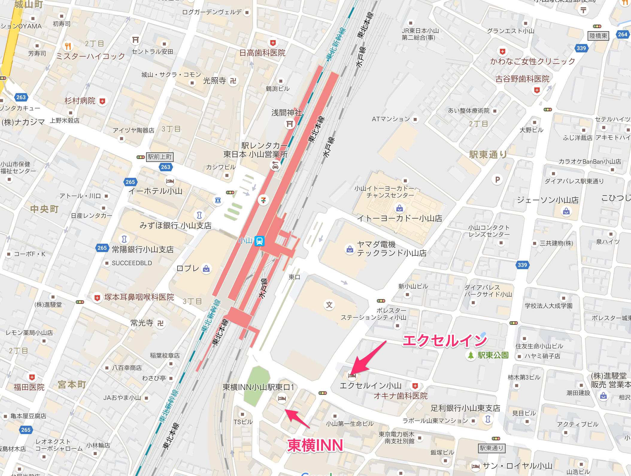 Oyama station 小山駅周辺