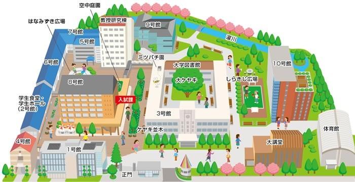 キャンパス地図
